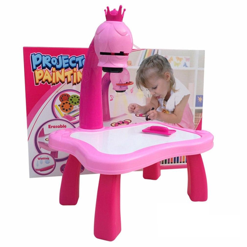 Детский обучающий стол для рисования с светильник кой музыкальный умный проектор игрушка Детский развивающий интерактивный инструмент ст...