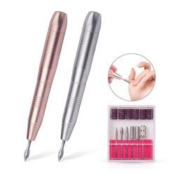 Caneta elétrica para manicure e pedicure, ferramenta portátil para manicure e pedicure, 1 conjunto