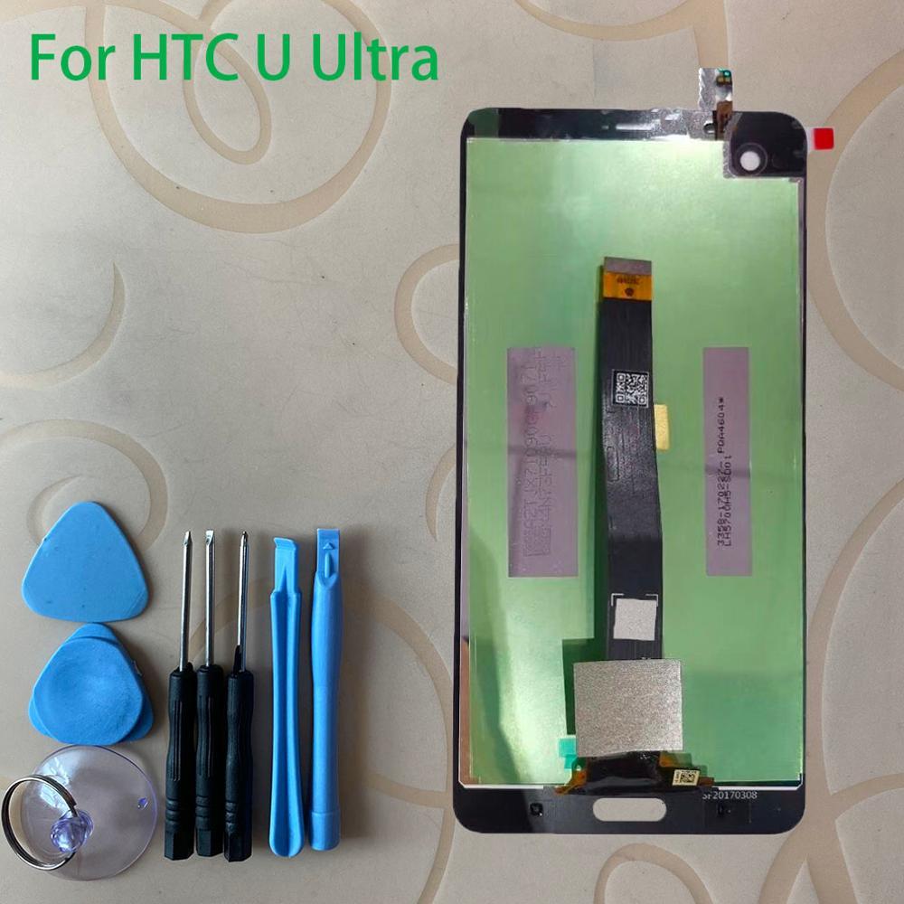Para u ultra display lcd de toque digitador da tela do painel sensor vidro + display lcd monitor tela assembléia painel ferramentas gratuitas