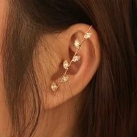 canze women piercing stud earrings diamond ear needles creative design lightning leaf surrounding stud earrings