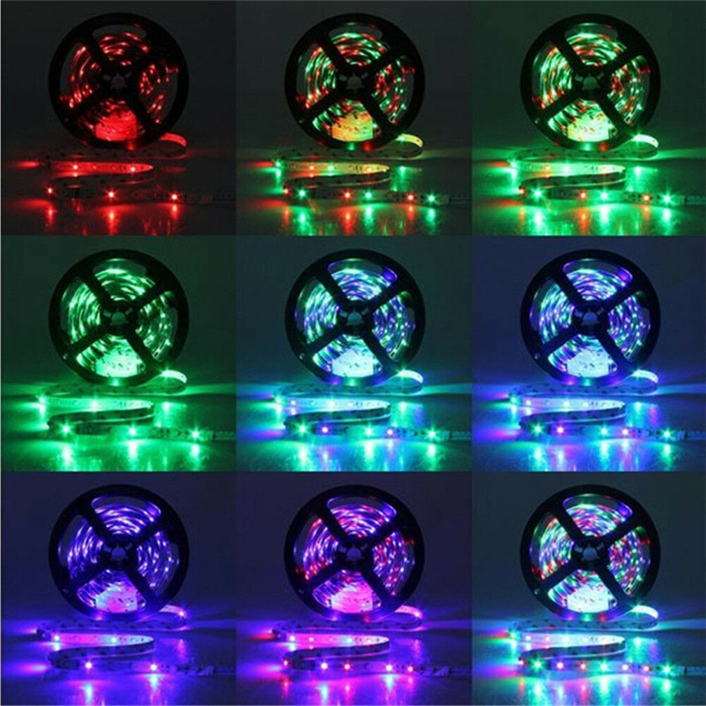 10M 3528 SMD RGB Flexible LED Light Strip 600LEDs +44 Key IR Remote Controller enlarge