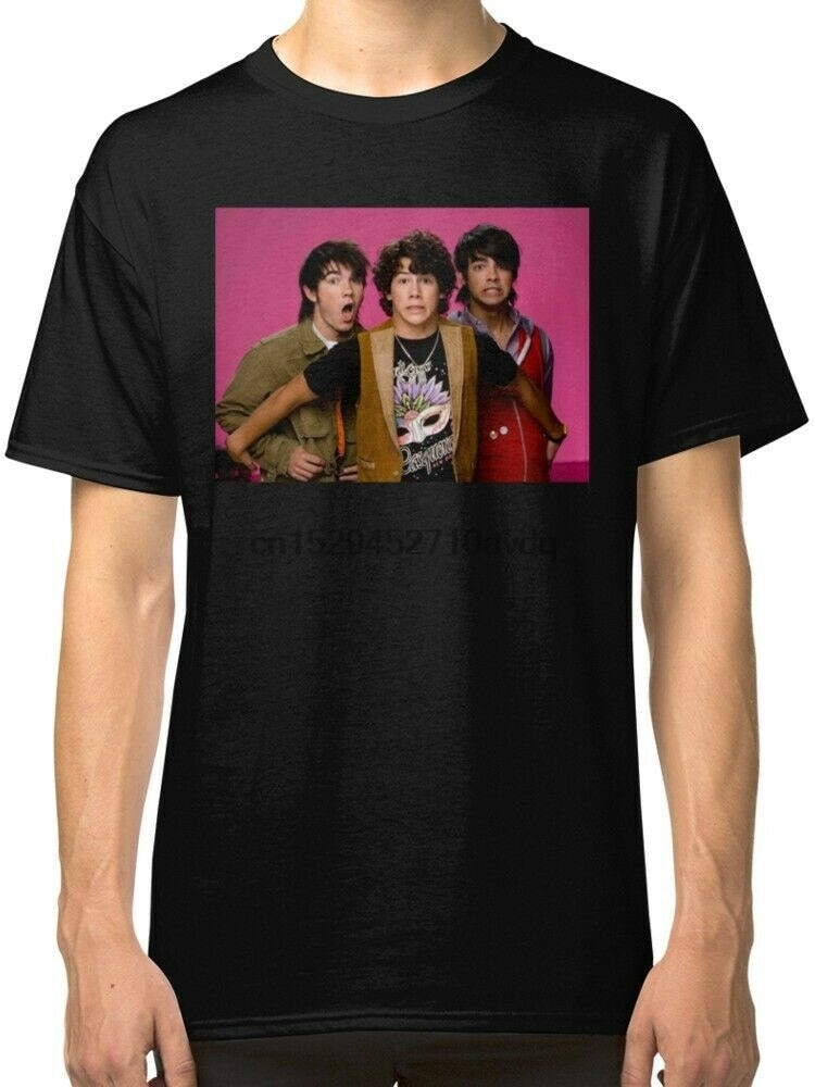 Camiseta negra para hombre de Jonás Brothers