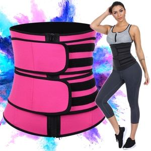 JOWI Shapewear Belt Waist Trainer Women Corsets Weight Loss Body Shaper Cincher Tummy Control Sweat Fat Burning Sauna Zipper 5XL