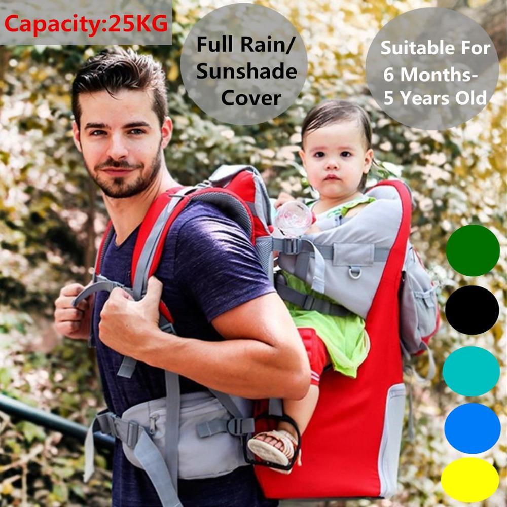Portabebés respirable para recién nacidos, mochila Portable para bebés y niños, con cubierta de lluvia para 0-5Y