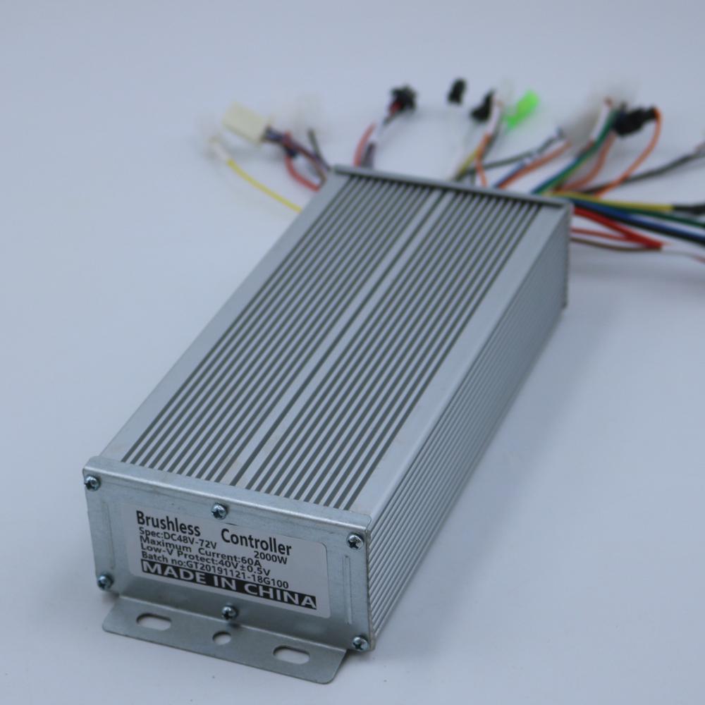 GREENTIME Sensor/Sensorless 48 V-72 V 1500 W-2000 W 18 mosfet BLDC контроллер двигателя E-bike бесщеточный контроллер
