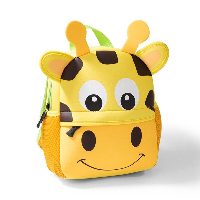 2020 nuevos niños mochilas para 3D DISEÑO DE jirafa chica niños bolsas de la escuela niño niños de neopreno mochila jardín de infantes bolso de caricatura