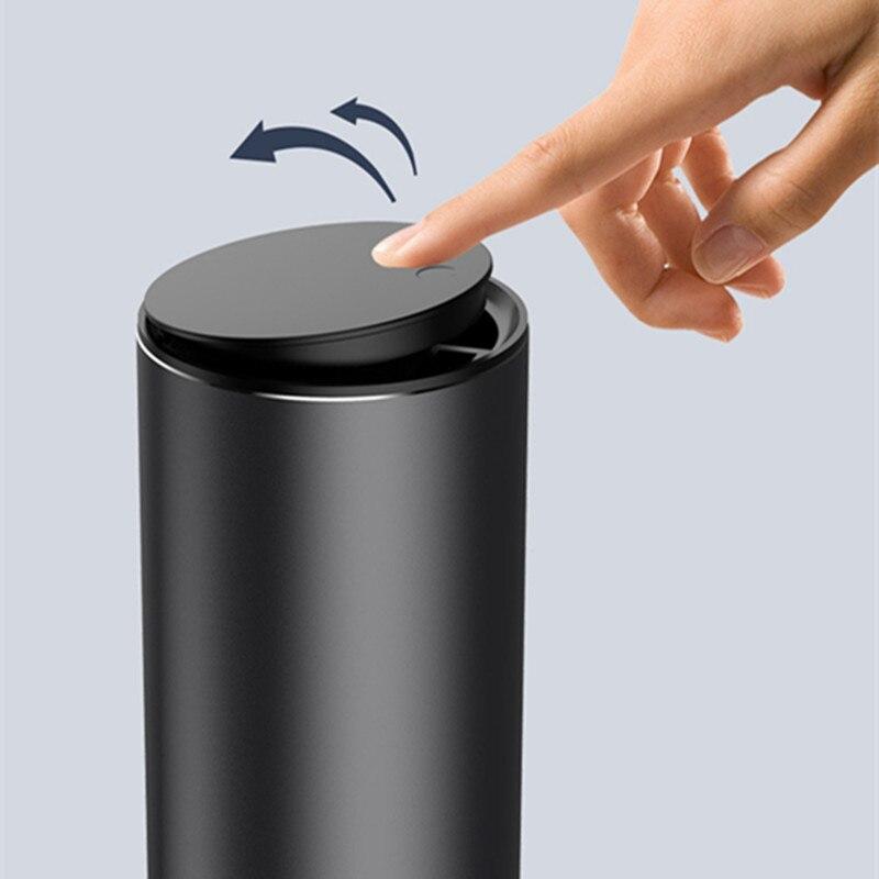 Car Trash Can Alloy Garbage Can Car Dustbin Waste Rubbish Bin Storage Holder Bag Car Interior Access