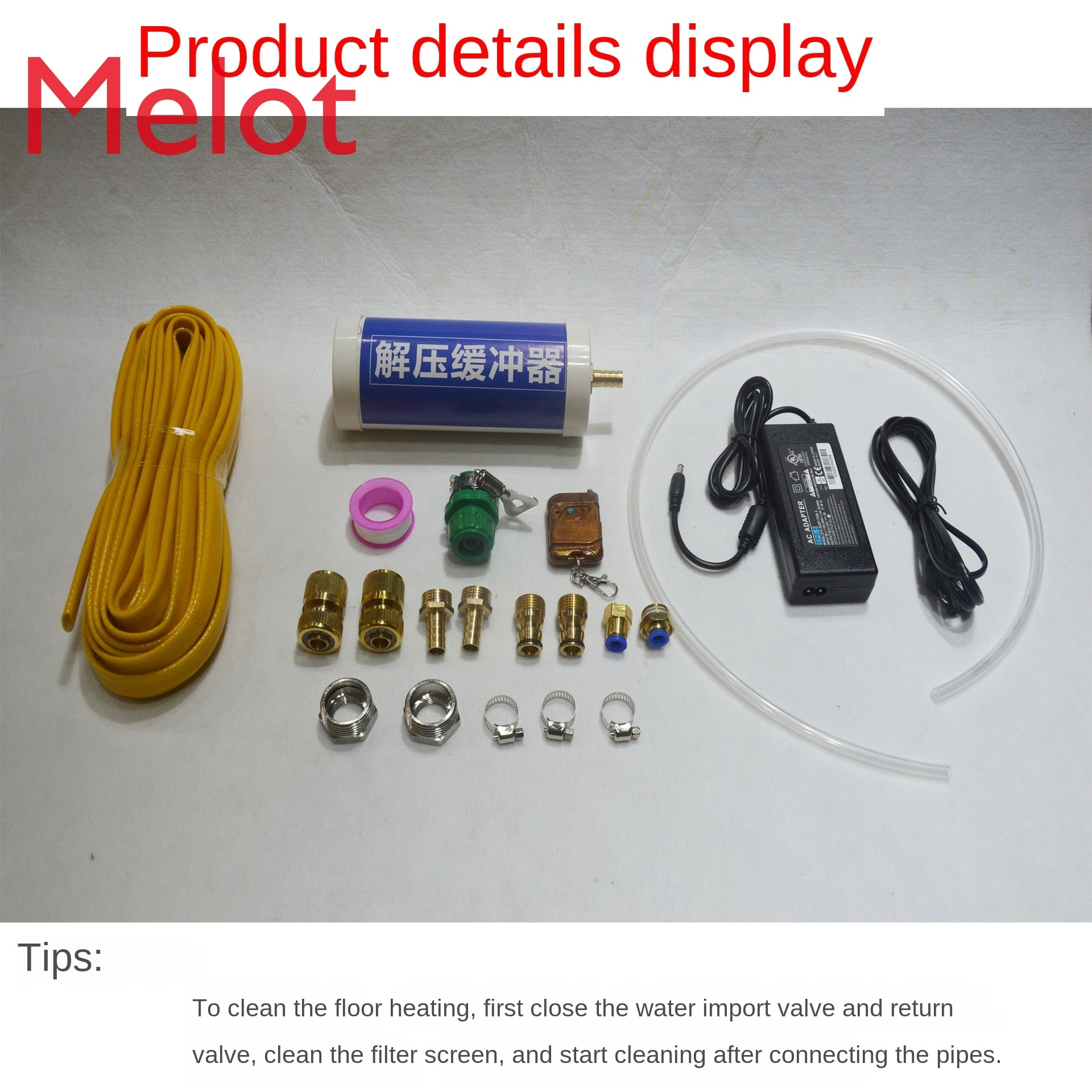 Pulse Floor Heating Cleaning Machine Tap Water Pipe Cleaning Machine Multi-Function Aluminum Box Pipe Cleaning Tool enlarge