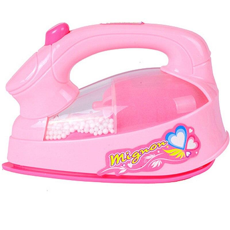 Jouet électrique pour filles, Mini fer électrique, en plastique rose, jouet lumineux, Simulation pour enfants et petites filles, appareils ménagers