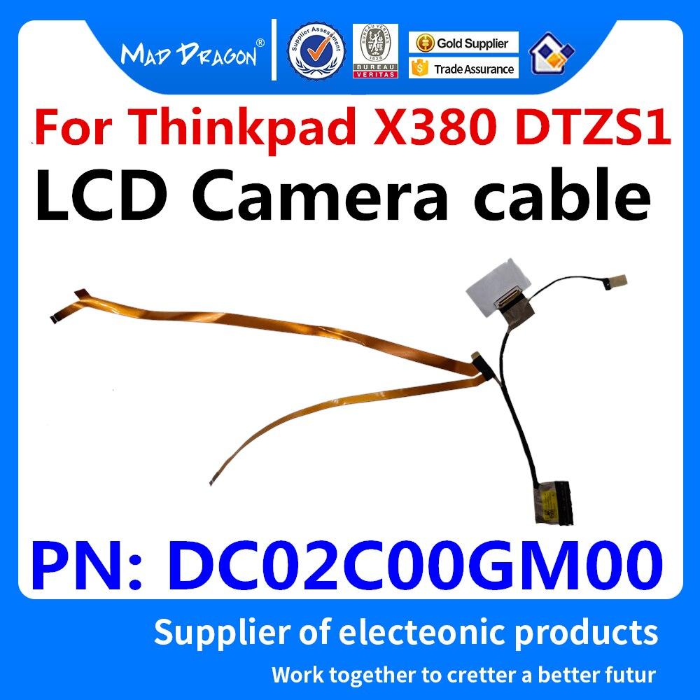 Original Nuevo LCD COMOS EDP LED LVDS Pantalla de Cable de VIDEO de la cámara del Cable para Lenovo Thinkpad X380 DTZS1 DC02C00GM00
