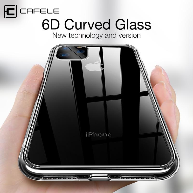 Carcasa transparente de TPU Cafele para iPhone 11 Pro Max SE 2020, carcasa transparente suave para iphone 11, carcasa antihuellas