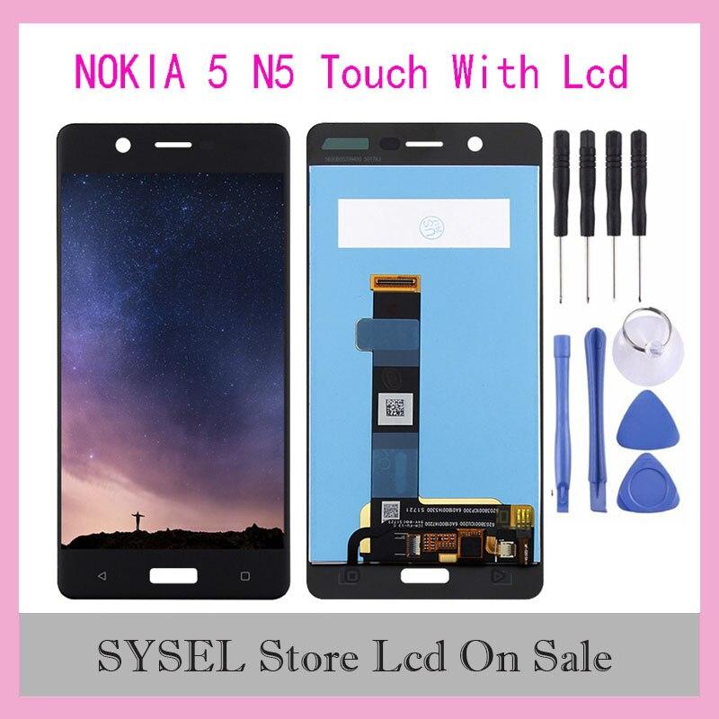 ЖК-дисплей для Nokia5 N5 ЖК-дисплей для Nokia-5 TA-1024 TA-1027 TA-1044 TA-1053 ЖК-дисплей кодирующий преобразователь сенсорного экрана в сборе
