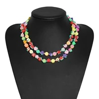 necklace vintage multicolor double layer candy color watermelon fruit handmade clay chain anniversary gift for womans jewelry