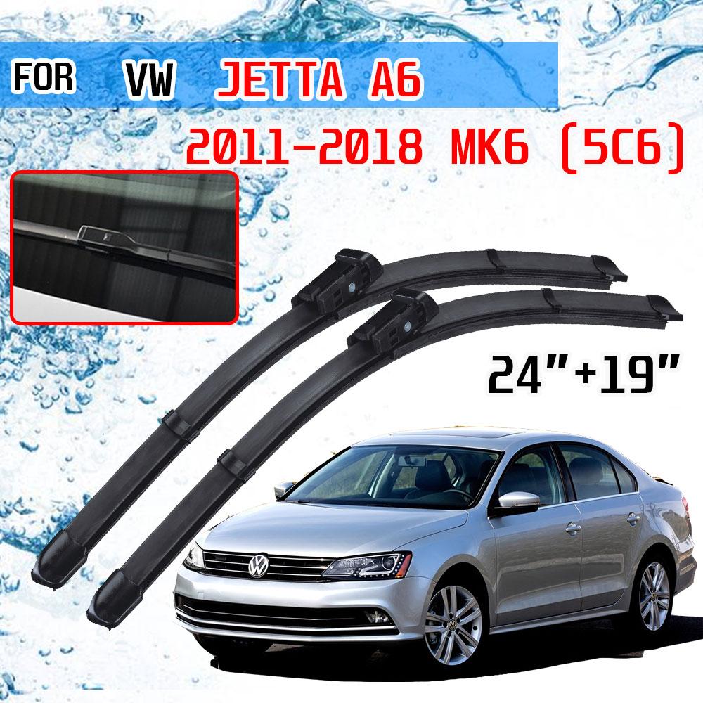Щетки стеклоочистителя передние для Volkswagen VW Jetta A6 5C6 Mk6 6 2011 2012 2013 2014 2016 2015 2017 2018 Стеклоочистители      АлиЭкспресс