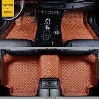 custom car floor mat for hyundai santafe santa fe 2019 year 7seats car accessories leather carpet floor mats