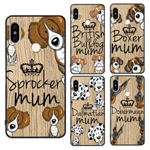 Sprocker Chow Boxer Pug Mum Dog Case For Xiaomi Redmi Note 8 9 Pro 7 8T 9S 7A 8A K30 Mi A3 9T 10 Pro Note10 Max3 Mix3