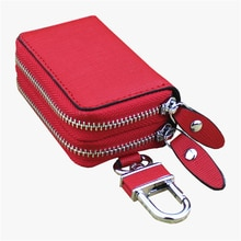Genuine Leather Key Wallet Men & Women Car Key Bag Multi Function Key Case Fashion Ladies Housekeepe