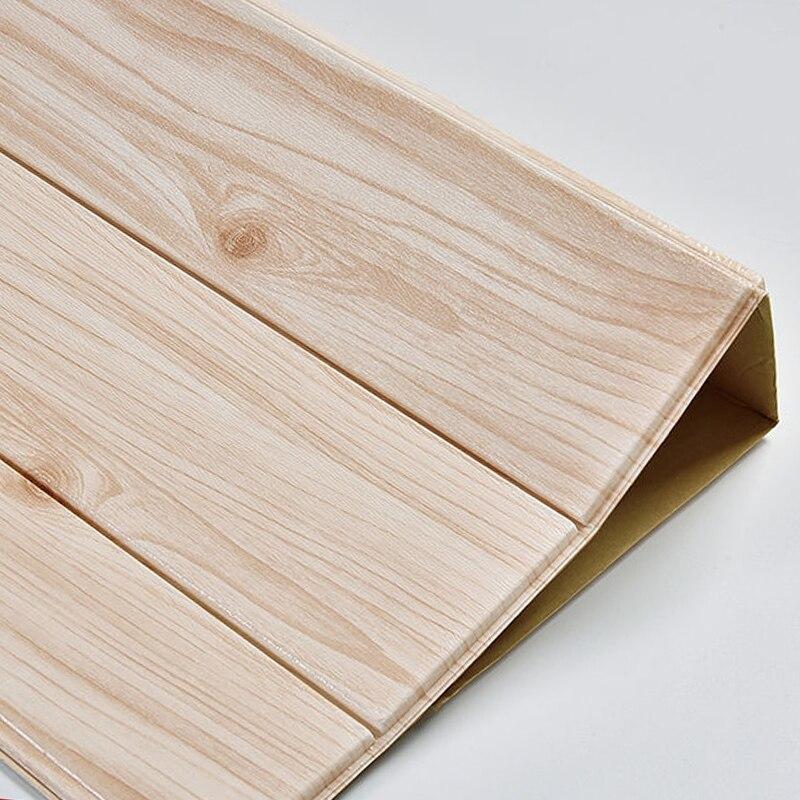 3d adesivo de parede de madeira decoração para casa espuma revestimento de parede à prova dwaterproof água auto adesivo para sala estar quarto painel parede do telhado