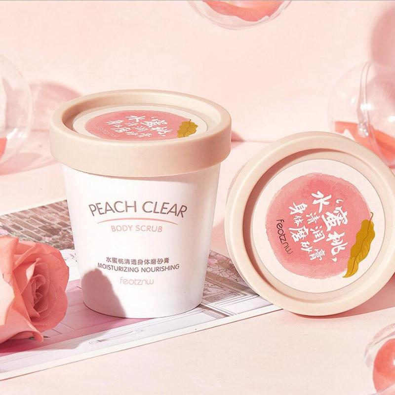 Niacinamide Body Scrub Ice Cream Peach Scrub Exfoliating Body Whitening Body Care 1Pcs