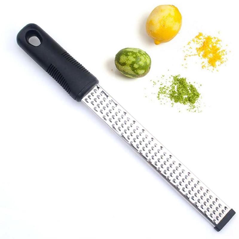 Limão cítrico zester & ralador de queijo-queijo parmesão aço inoxidável moinho de queijo gratergadgets cozinha ferramentas zester descascador de frutas