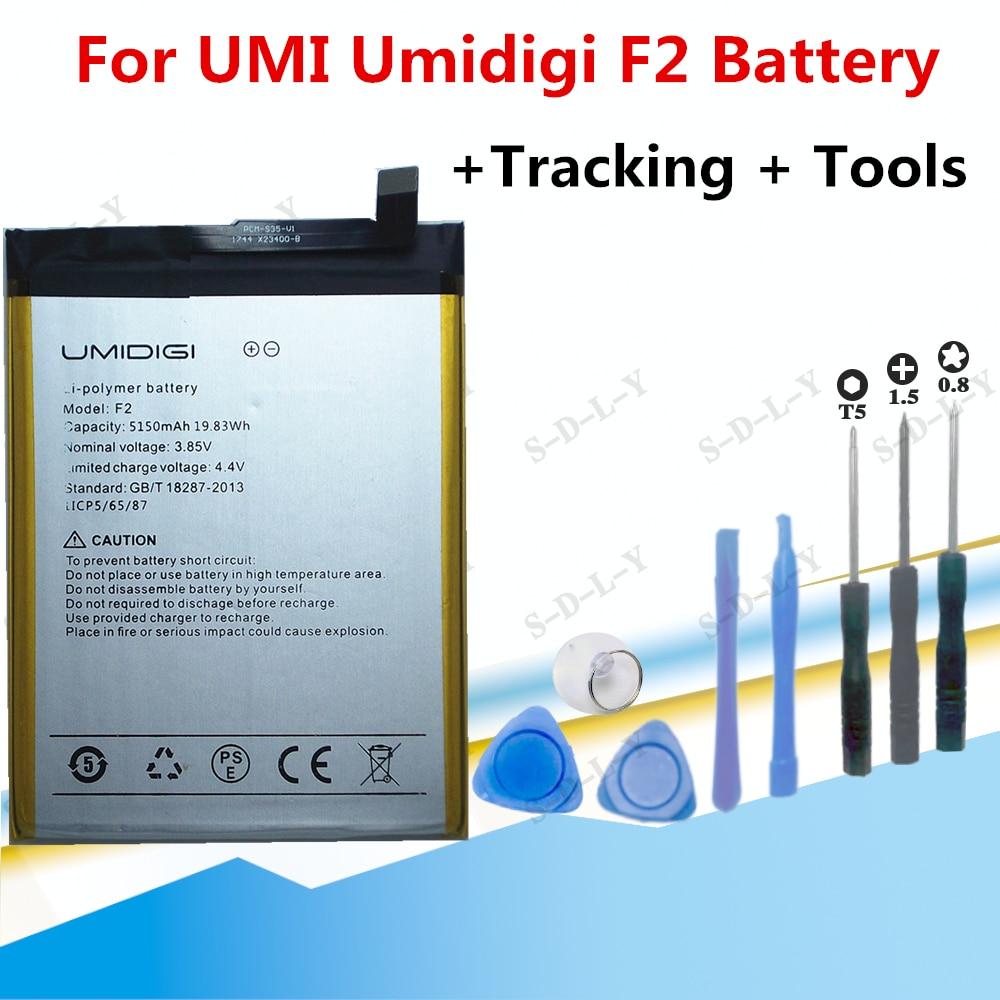 5150mAh For UMI Umidigi F2 Battery Bateria AKKU High Quality Replacement Battery For Umidigi F2 Mobi