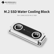 Barrowch M2 solid state speicher kühler SSD 2280/22110 Computer kühler montage PC wasser kühlung Doppelseitige Chip Festplatte