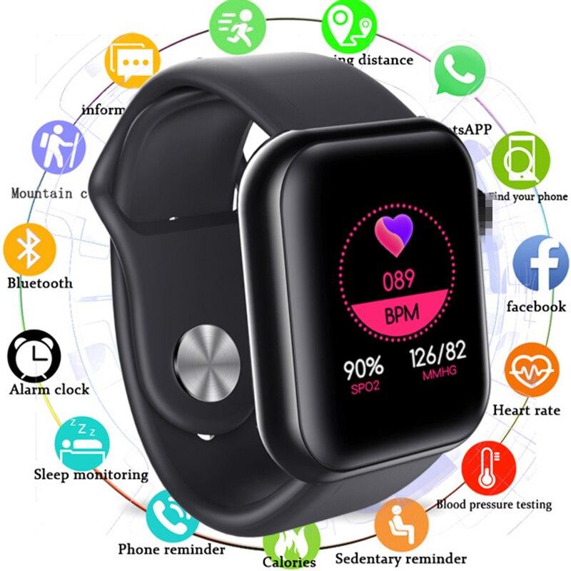 Reloj inteligente resistente al agua, reloj inteligente con control de ritmo cardíaco y del sueño, y la presión sanguínea para Android IOS, 2020