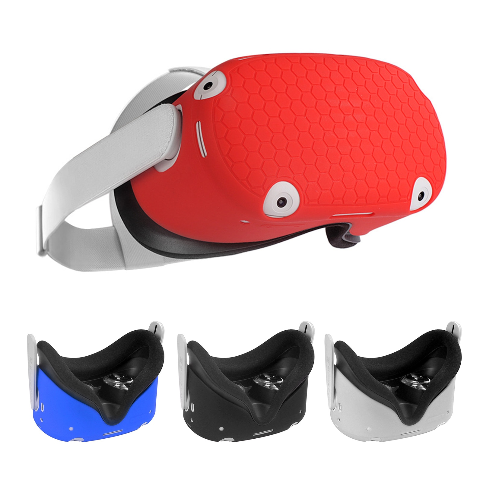 Silicone Protective Cover Shell Case For Oculus Quest 2 VR Headset Head Cover Anti-Scratches For Ocu