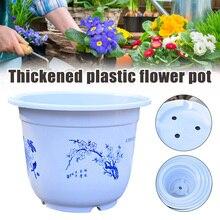 Grand Pot de fleur en plastique rond épais planteur jardin intérieur fleurs plante Pot JS23