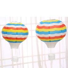 Ballon à Air chaud en papier avec motifs de nuage   Décoration de Festival, décoration de fête pour enfants, montre de Pause pratique