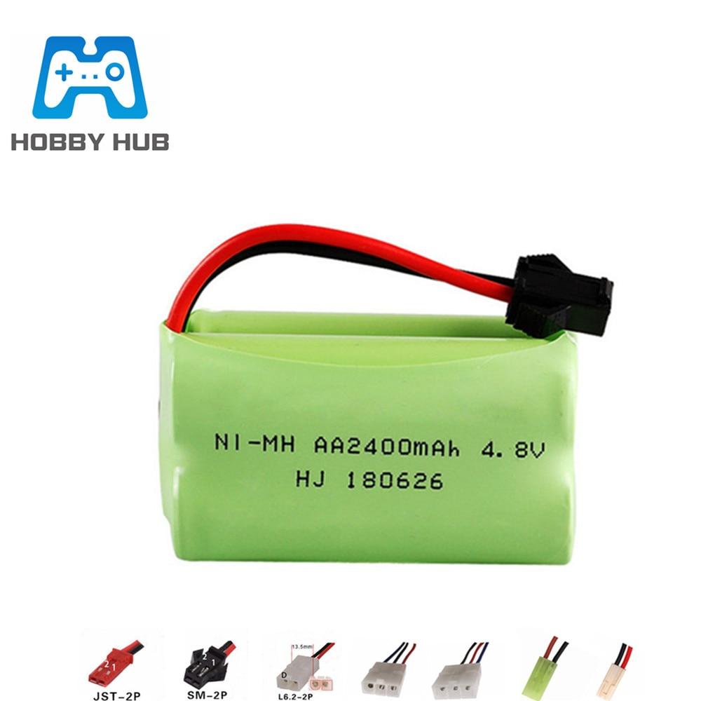 4.8V 2400mAh NIMH Battery For RC Toy car boats Tanks Robots Guns parts NI-MH 4.8v AA battery pack 1p