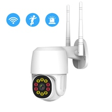 Gadinan 3MP Wifi PTZ Outdoor IP Camera Dome AI Security Camera P2P Wireless 2 Way Audio Waterproof I