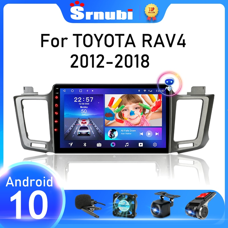 Srnubi для Toyota RAV4 XA40 5 XA50 2012 - 2018 2 Din Android 10 автомобильное стерео радио Multimidia видеоплеер GPS WIFI DVD колонки