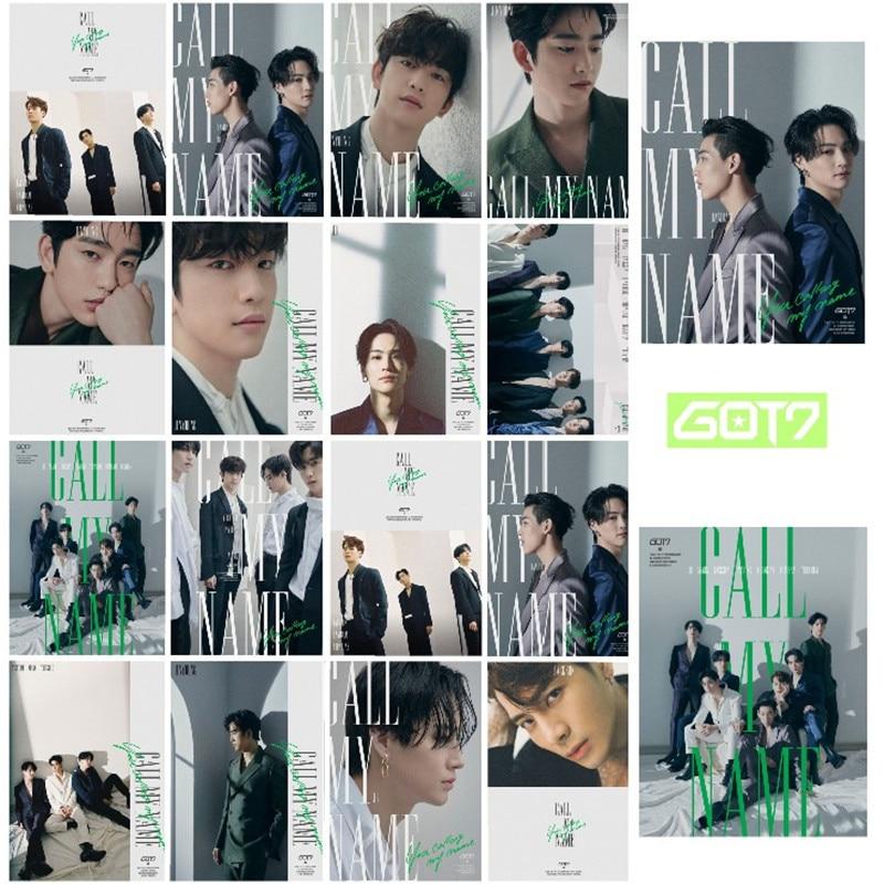 16Pcs/set Korean KPOP GOT7 Photo Card Call My Name Cards JACKSON Self Made LOMO Card Photocards Fan Gifts Souvenir Supplies