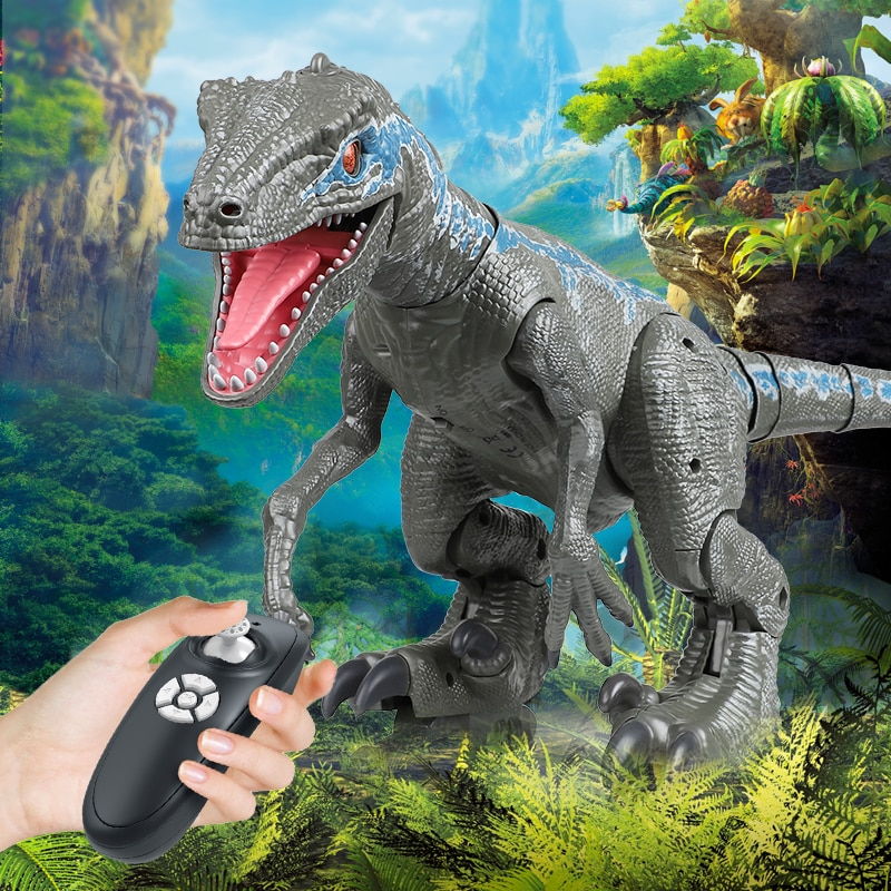 RC Toy Dinosaur Remote Control Animal Intelligent robot Dinosaur Park Electric Car Walking Animals controlled Toys For Boys Gift enlarge