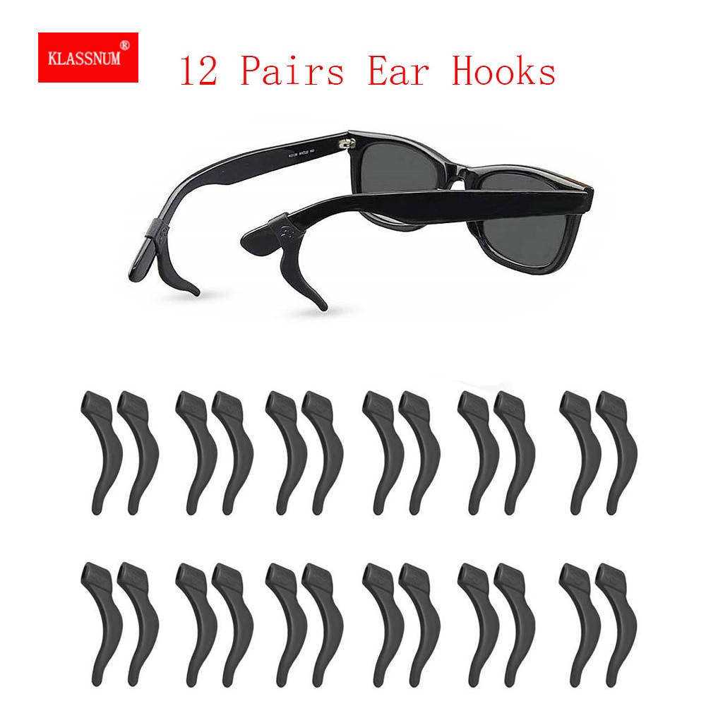 12 Pairs Silicone Anti Slip Ear Hooks for Glasses Eyeglass Sunglasses Holder New Casual Glasses Stan