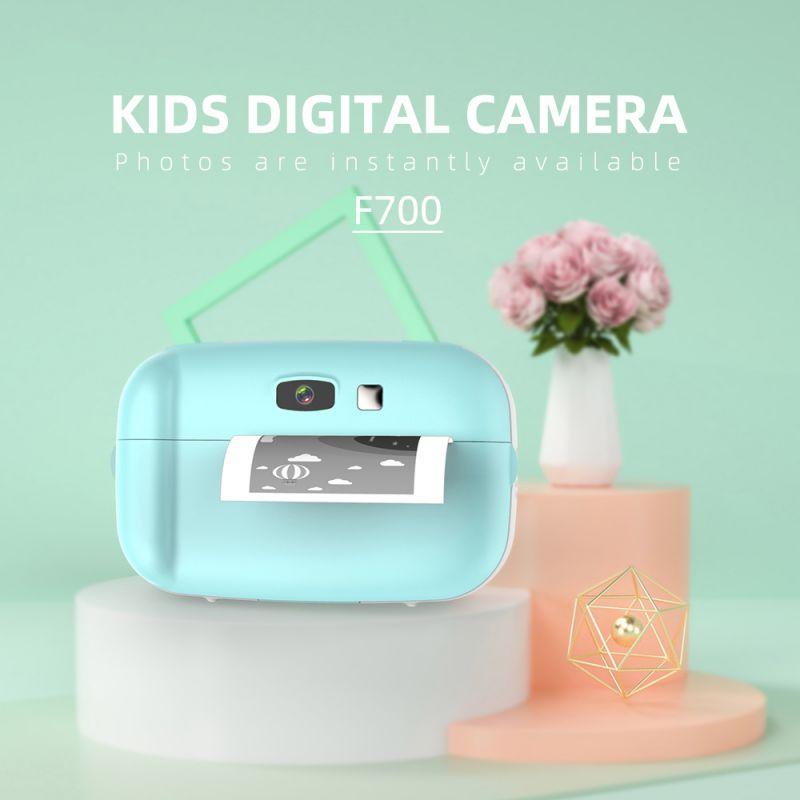 كاميرا الطفل لطيف صغيرة عالية الوضوح الكرتون الطفل صورة فورية طباعة الكاميرا الإنجليزية/الفرنسية/الألمانية/الإسبانية تبسيط.