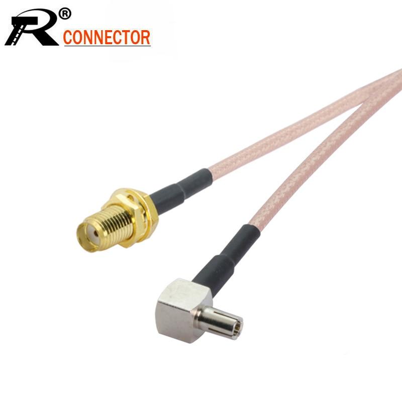 100pcs/lot SMA Female to TS9 male right angle Connector RG316 Coaxial Cable 15CM for huawei e5332 e5776 e5372 modem