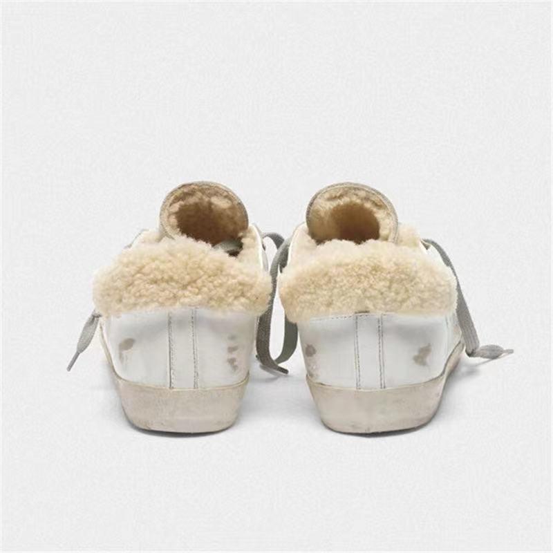 2021 Autumn and Winter New Products Parent-child Shoes Lamb Fur Fur Retro Old Children's Fashion Warm Casual Shoes  QZ119 enlarge