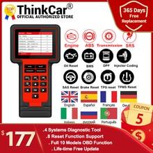 Диагностический сканер Thinkcar TS609 OBD2 для двигателя ABS SRS, диагностический инструмент для коробки передач, сканер для считывания кодов ThinkScan 609 с 8 функциями сброса