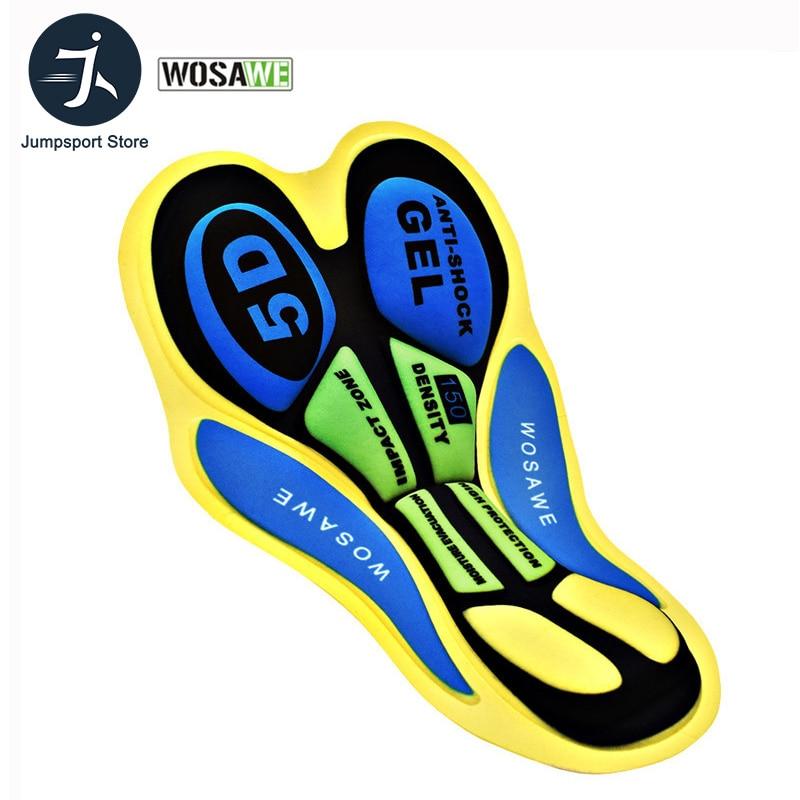 WOSAWE Cycling Shorts DIY Cushion Silicone Breathable 5D Pads Bike Sport Wear Riding Base Outdoor Biking Underwear Padded