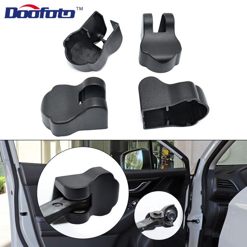 Doofoto 4x ограничитель двери автомобиля для Subaru Forester Impreza Legacy Outback XV STI 2004 2014 2018 2019 автомобильные аксессуары