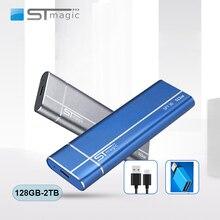 Stmagic Spt30 Metall Tragbare SSD USB 3,1 128GB 256GB 512GB 1TB 2TB Externe Solid State stick für laptop Projektor handy
