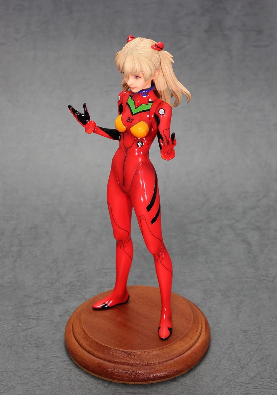 H53d595a199654277a6d50357e5738ff1W Action Figure Evangelion Asuka 1/8 figura modelo de resina gk