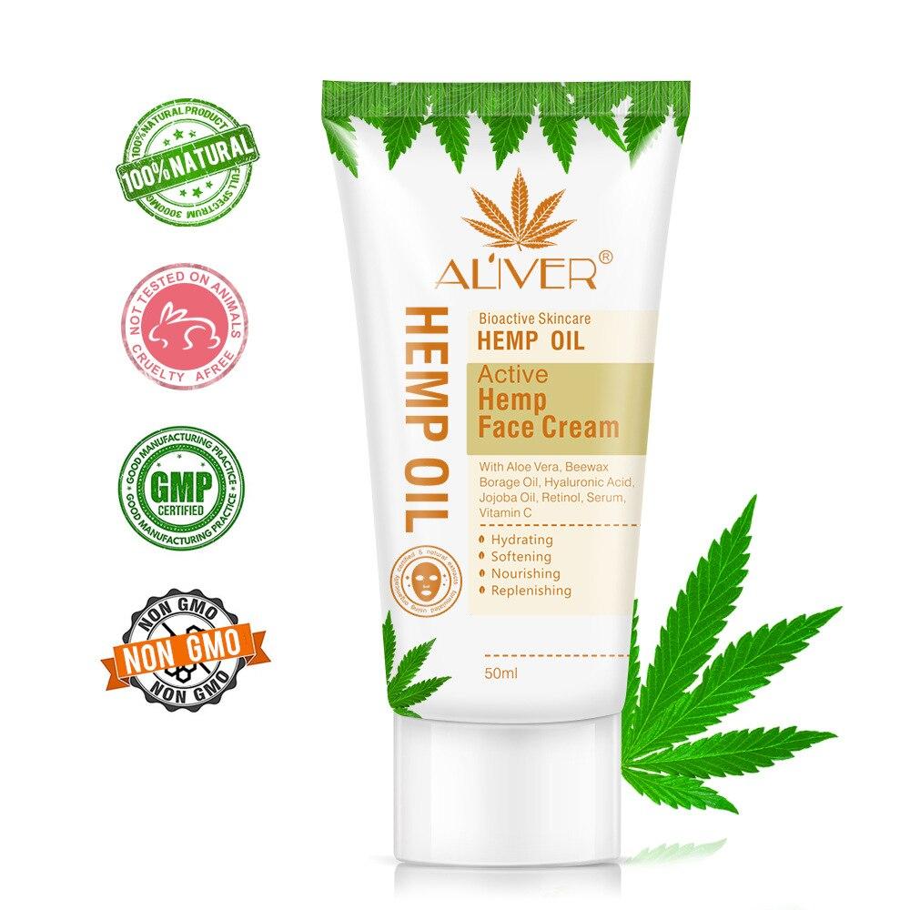 Cross border ALIVER sesame oil cream moisturizing, Anti Aging Wrinkle Hemp oil Cream can be replaced