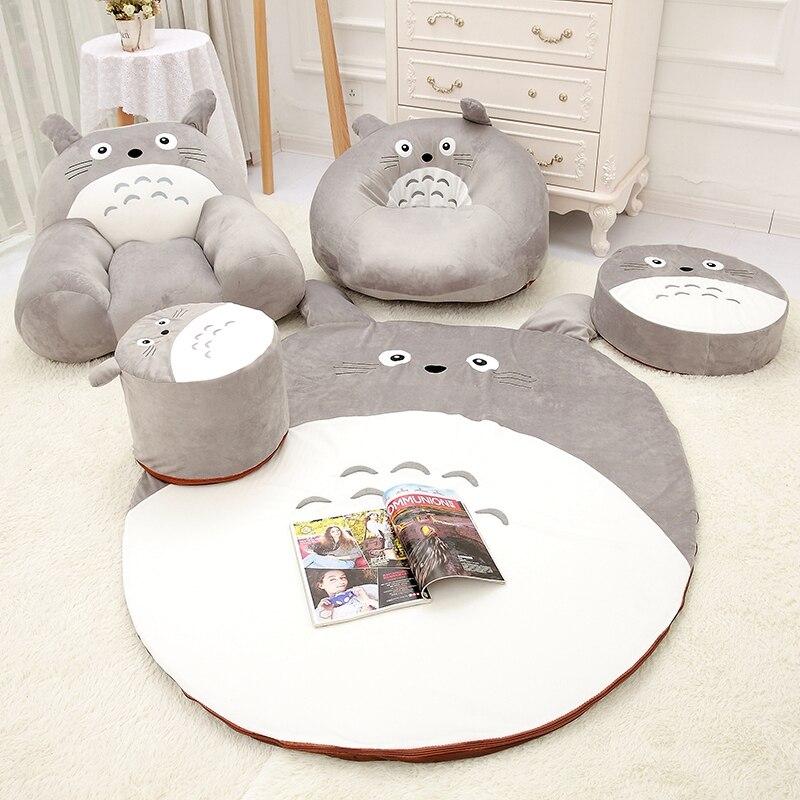 Juego de sofás de peluche de varios estilos, Totoro, decoración del hogar hecha a mano, Totoro, decoración del hogar, sofá, cojín, asiento, Alfombra de muñeca