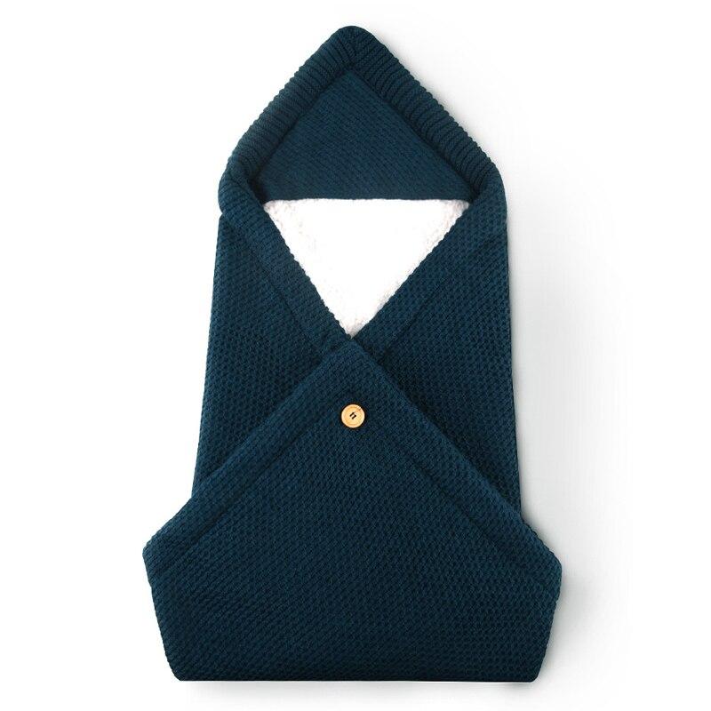 Baby Swaddle Blanket Newborn Winter Warm Soft Sleep Sack Lint Swaddling Bag Infant Cover Wrap Swaddling New Envelope Bedding Mat