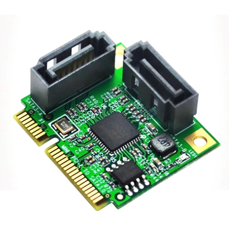 2-Port Sata3.0 PCI-E إلى Sata3.0 بطاقة التوسع واجهة صغيرة توسيع بطاقة الناهض بطاقة ل القرص الصلب SSD