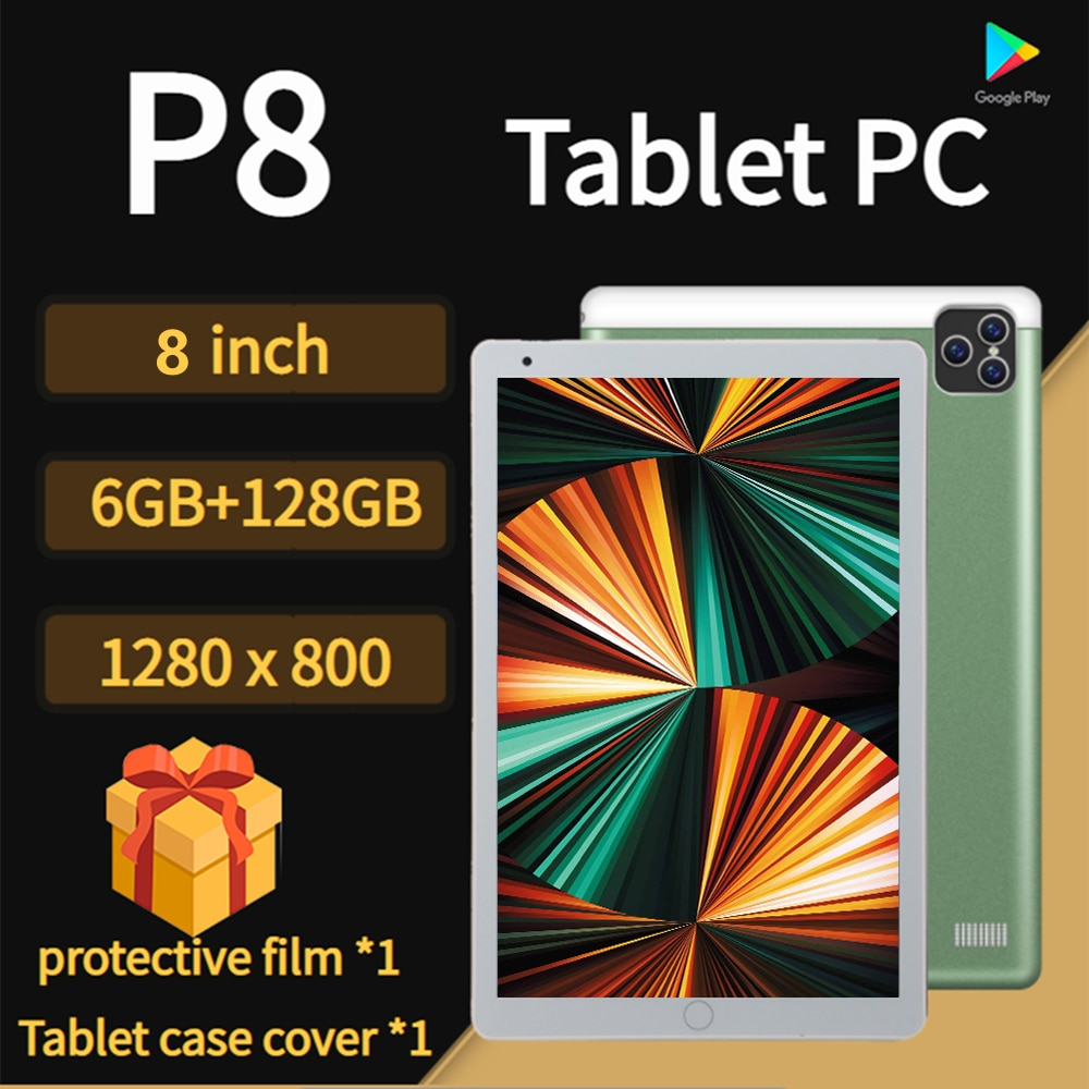 Tablet PC P80 Graphics tablet 8inch Tablet Android 10.0 Tablet 10 Core Tablette android 6GB RAM+128G