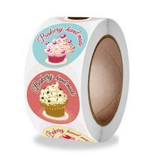 Pegatinas hechas a mano para pastel, galleta, caramelo, Chocolate, aperitivos, panadería, envoltura, 500 Uds., pegatinas de feliz cumpleaños para niños